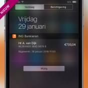 De widget van ING Mobiel Bankieren.