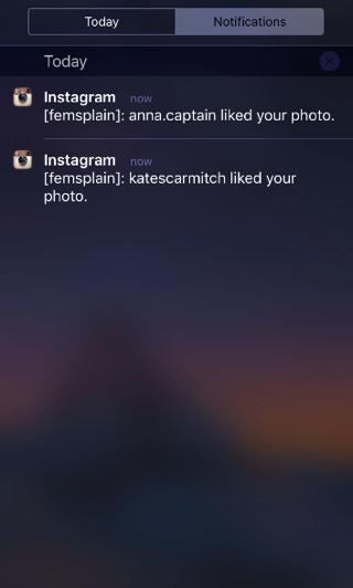 Instagram notificaties van meerdere accounts.