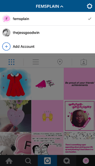 Ondersteuning voor meerdere accounts op Instagram