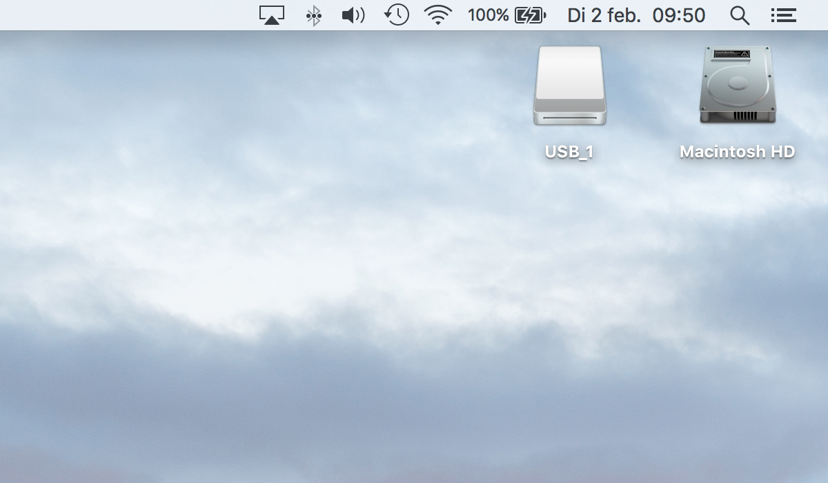 Iconen op het bureaublad van je Mac.