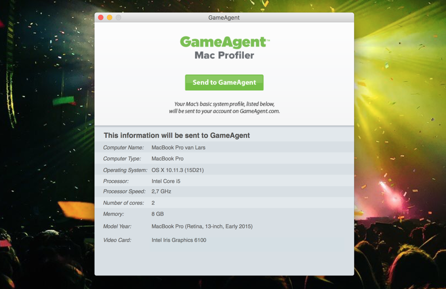 GameAgent-app analyseert je Mac