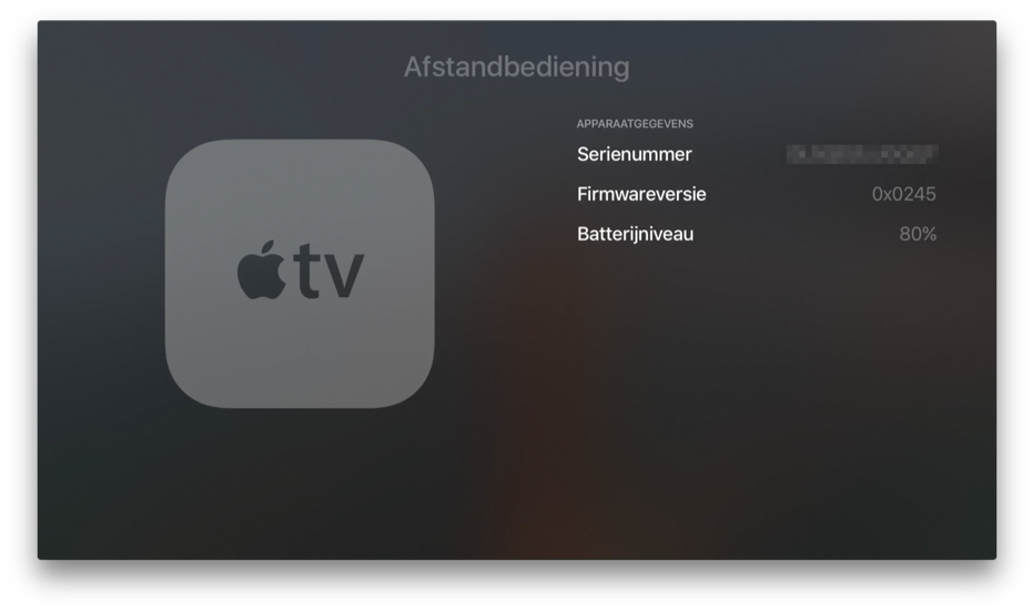 Apple TV Siri Remote firmware.