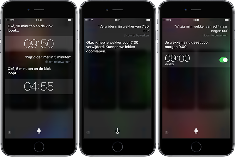 Siri: timers en wekkers instellen