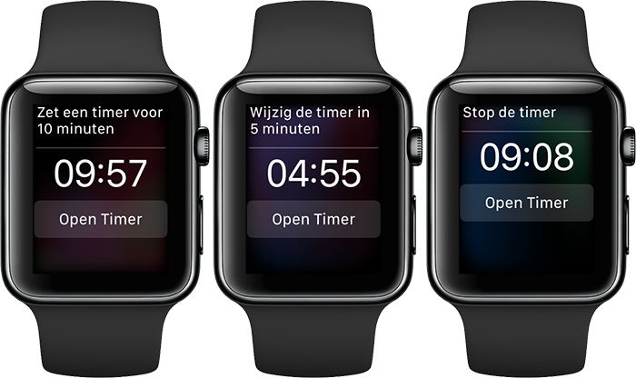 Apple Watch timer instellen