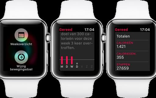 Activiteiten-app weekoverzicht opvragen op de Apple Watch