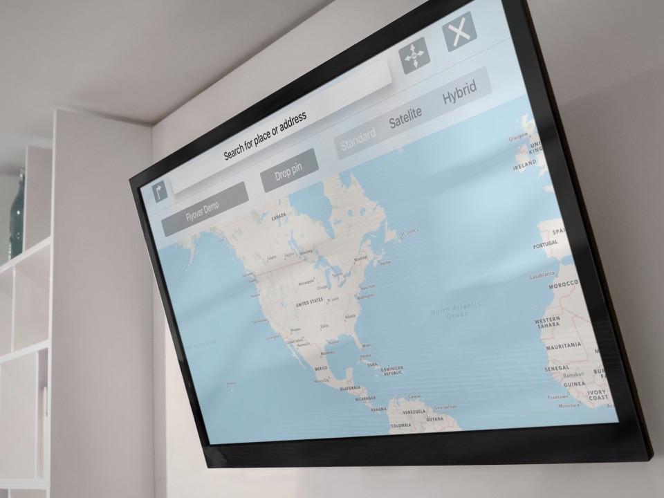 TV Maps op de Apple TV.