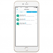 Skype bots in de iPhone-app.