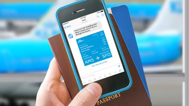 KLM: inchecken met Facebook Messenger
