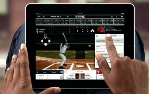 MLB At Bat op een iPad