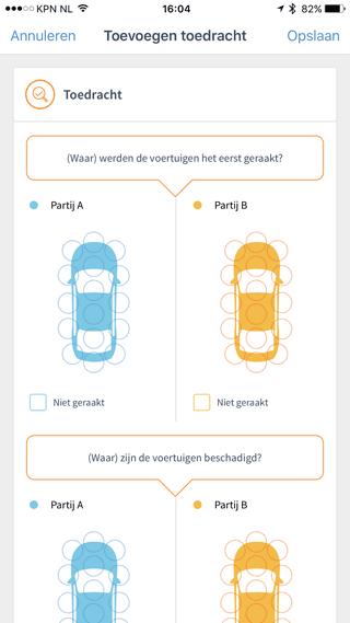 Schadeformulier-app: toedracht invoeren