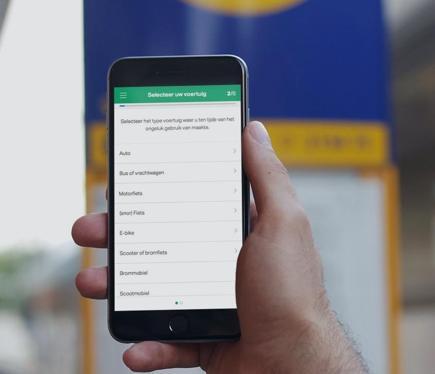 MobielschadeMelden vervangt het Europees schadeformulier.