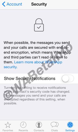 WhatsApp encryptie op de iPhone.