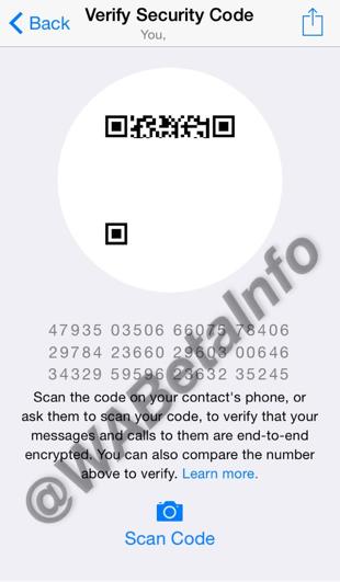 QR-code voor encryptie in WhatsApp.