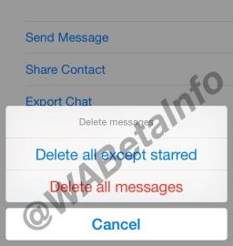 WhatsApp-berichten verwijderen.