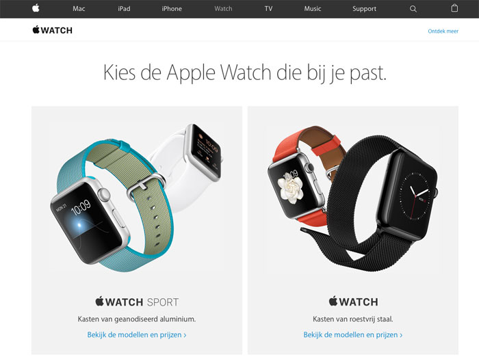 Apple Watch Edition ontbreekt