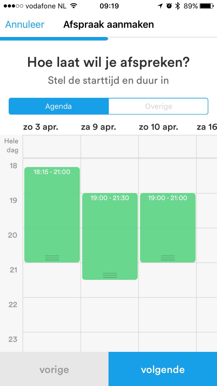 Kies een datum in Datumprikker.