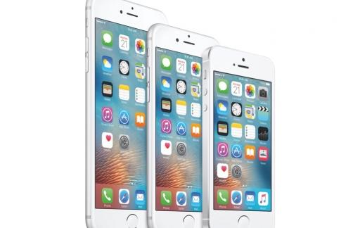 Verschillende schermformaten van de iPhone-familie.