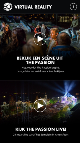 De virtual Reality-app van de EO staat in het teken van The Passion.