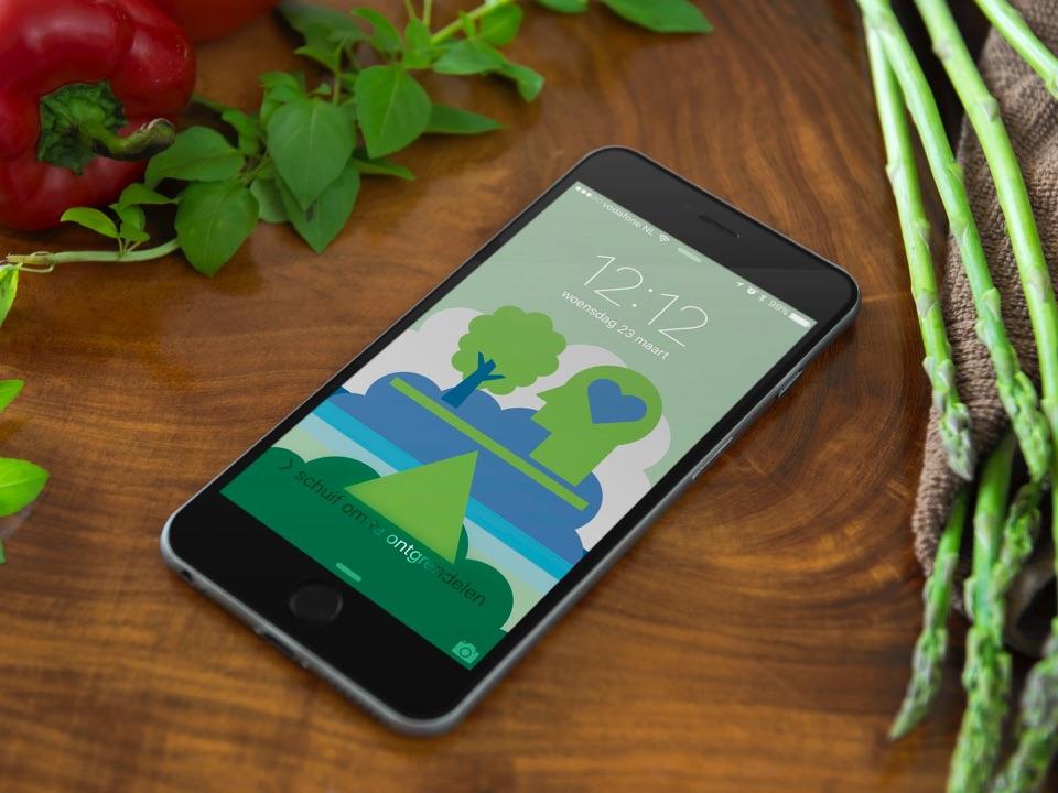 Apple-achtergrond voor Apple Renew.