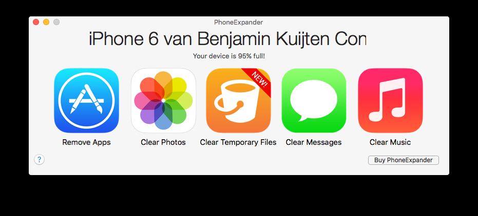 PhoneExpander voor de Mac.