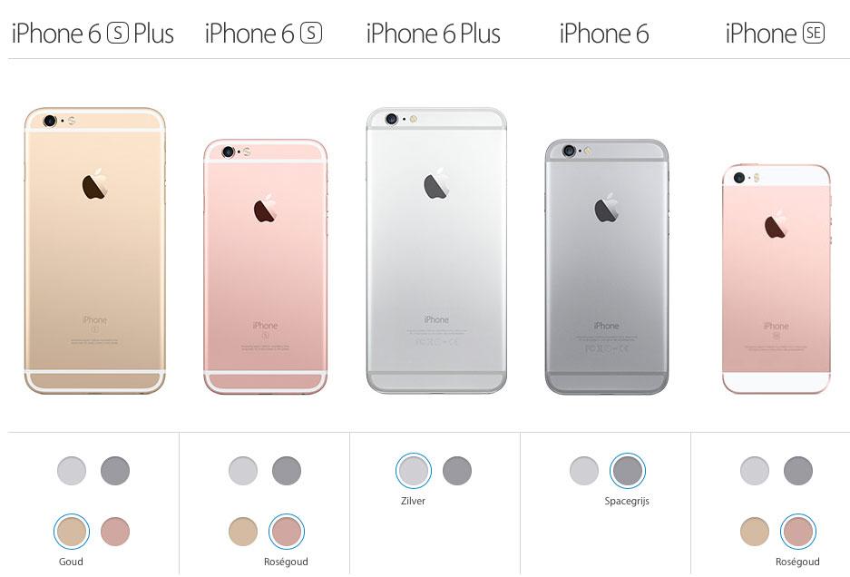 iPhone lineup 2016