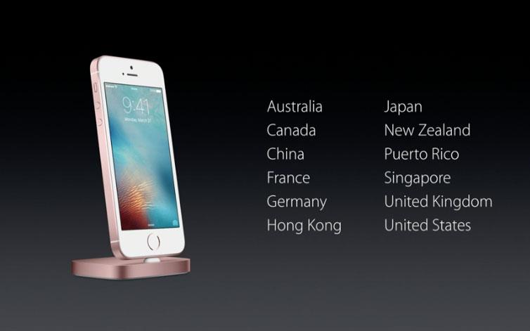 iPhone SE eerste groep landen
