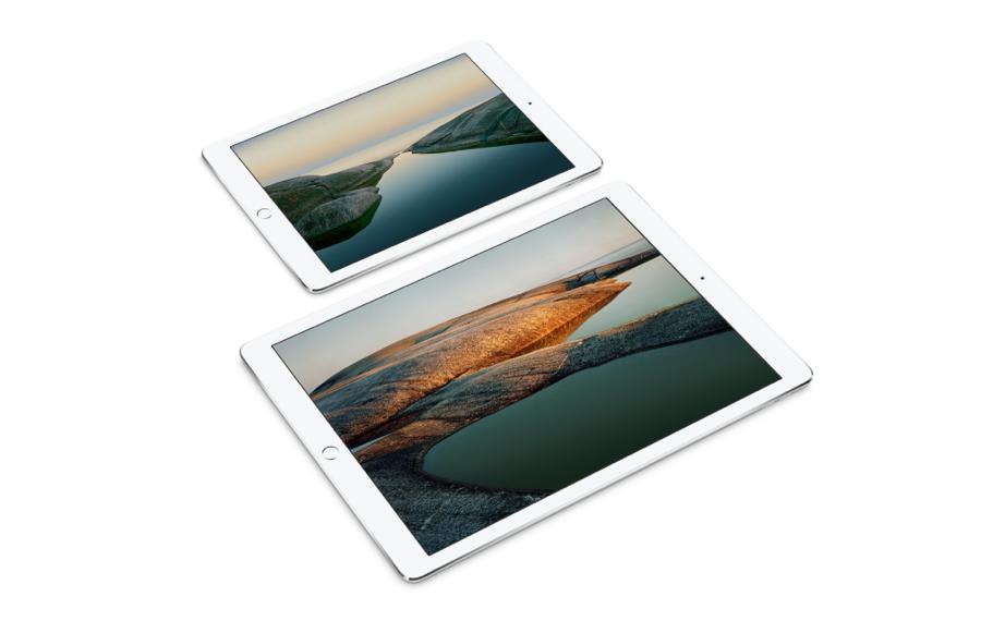De kleine iPad Pro naast de grotere variant.
