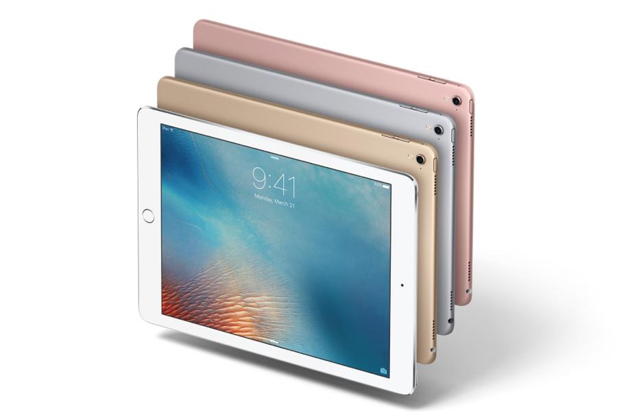 De 9,7-inch iPad Pro in alle kleuren.