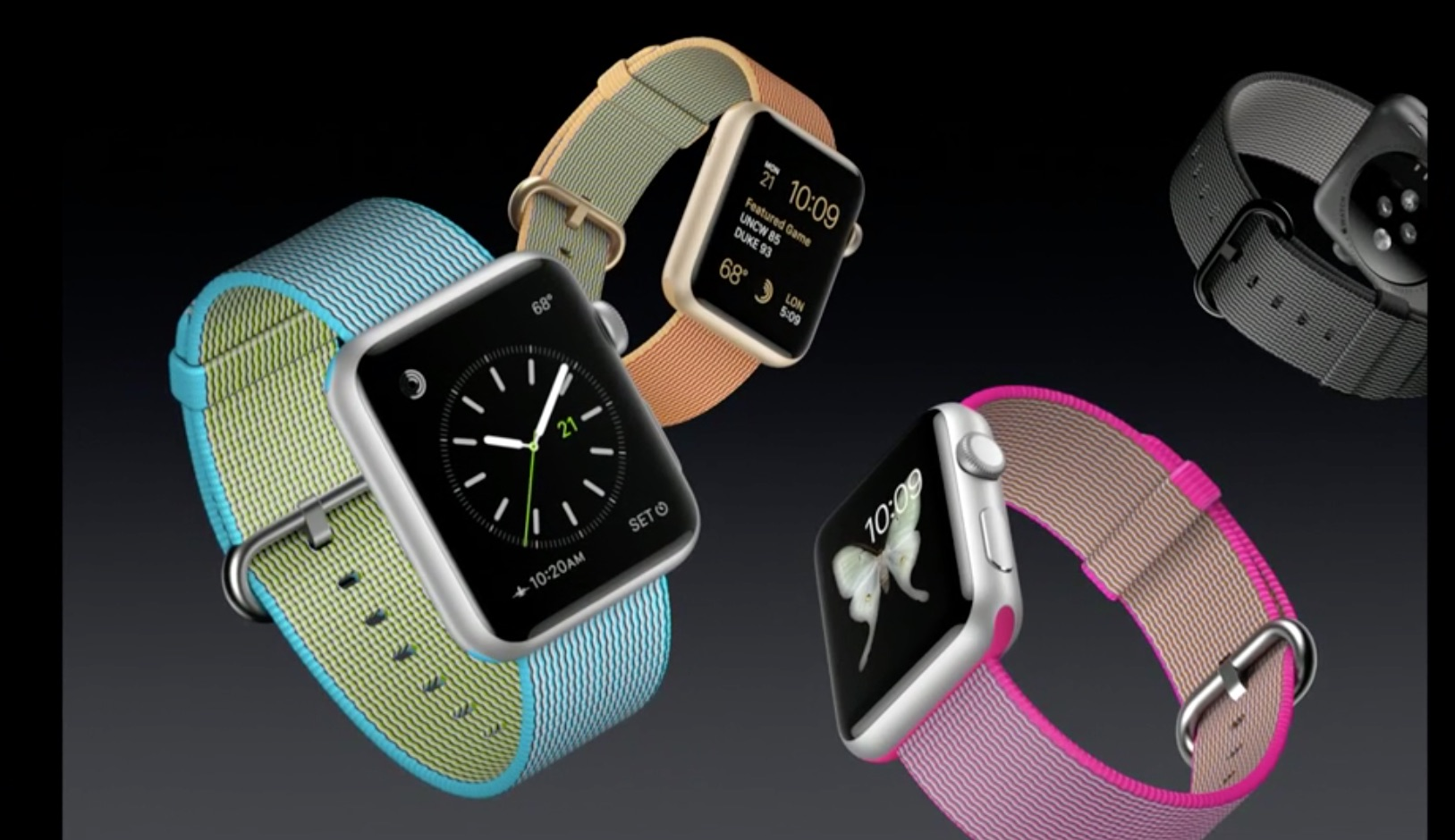 Apple Watch met nylon bandje.