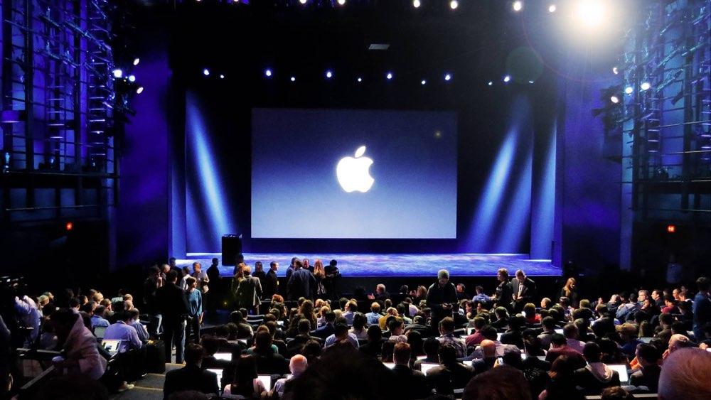 Apple event in de zaal