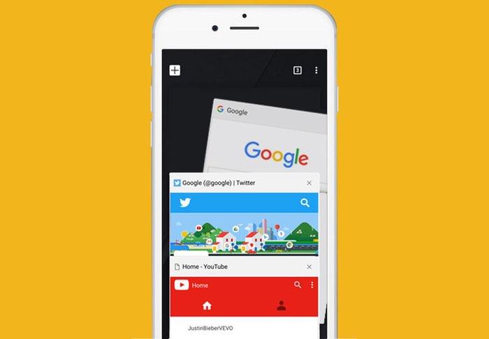 Chrome-browser op een iPhone