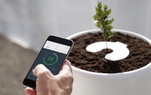 Bios Incube bloempot: sensoren bedienen via de app