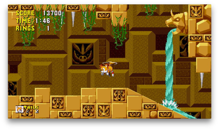 Tails in Sonic the Hedgehog.