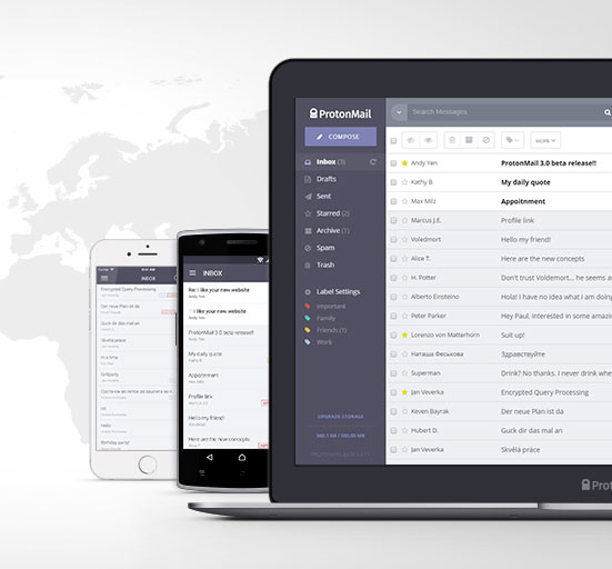 ProtonMail op Mac en mobiel