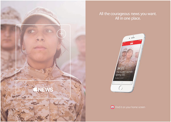 Apple Nieuws reclamecampagne CNN