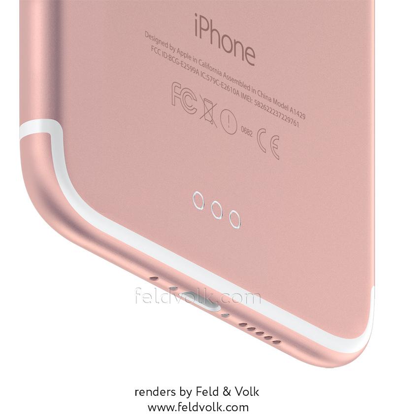 Render van de iPhone 7 met Smart Connector.
