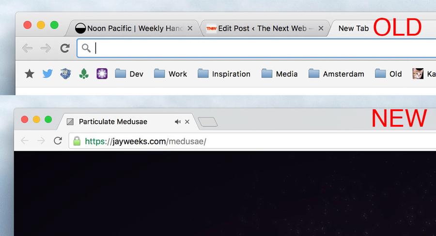 Verschil tussen Google Chrome oud en nieuw.