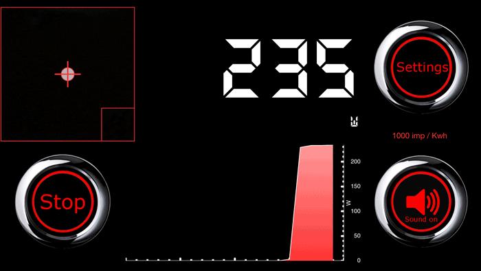 Stroom Meter-app: meting op de iPhone