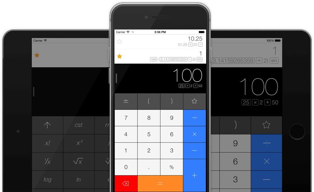 Calcbot op iPhone en iPad