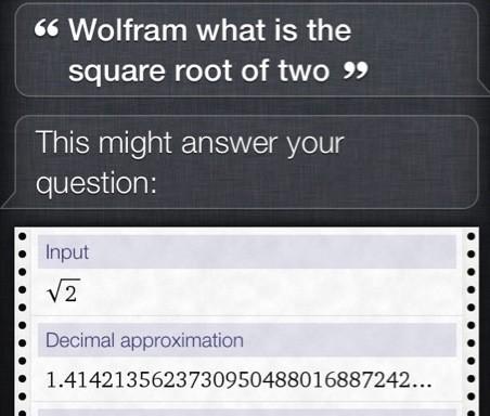 Wolfram Alpha berekeningen