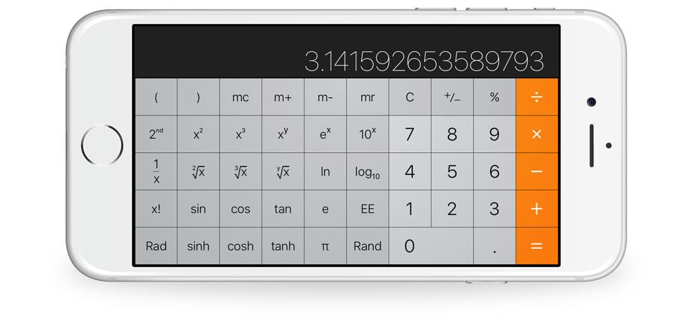 Apple Calculator landschap