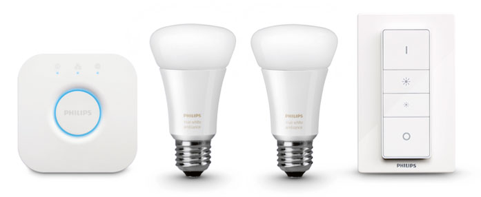 Philips Hue white ambiance-lampen in meerdere tinten wit