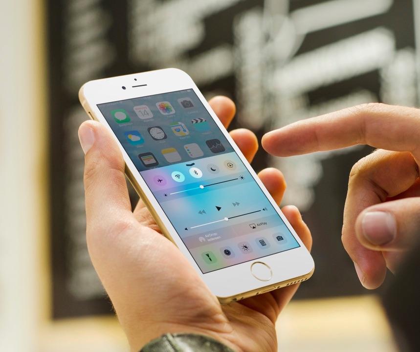 Het Bedieningspaneel op de iPhone in je hand.