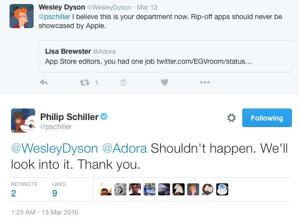 Phil Schiller: algoritme App Store