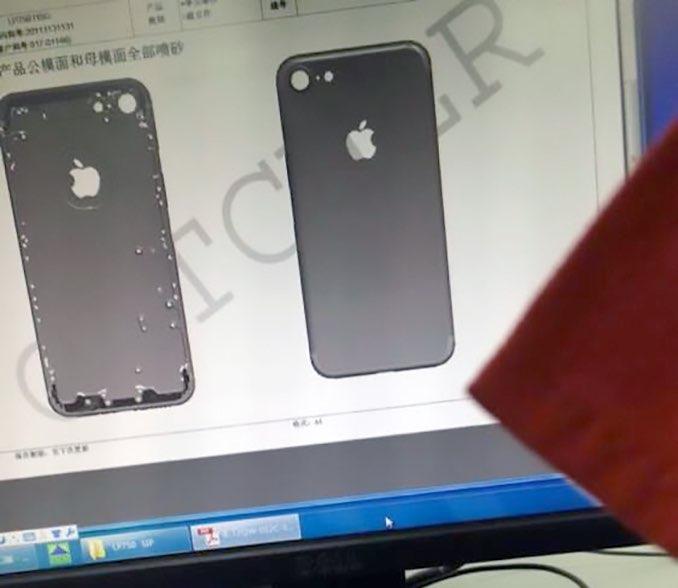 iPhone 7 behuizing achterkant