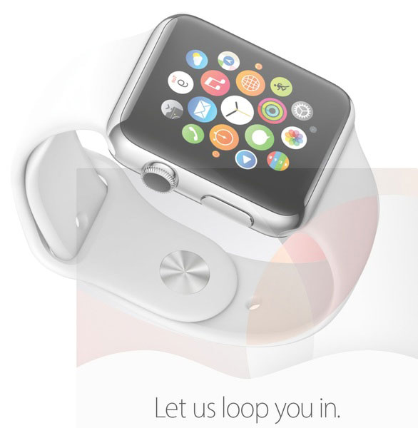 Apple Watch-bandje in de uitnodiging