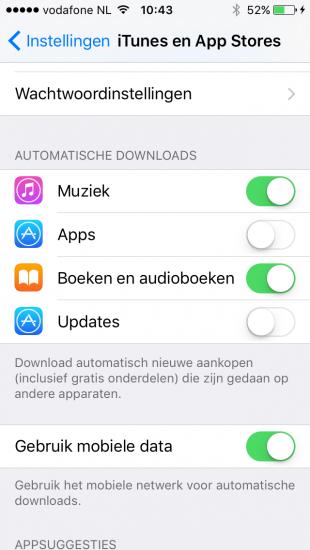 Automatische downloads van audioboeken.