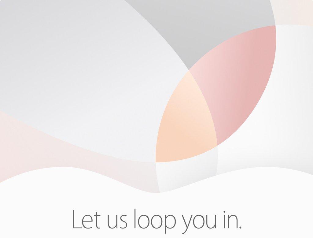 Uitnodiging voor Apple Event in maart 2016.