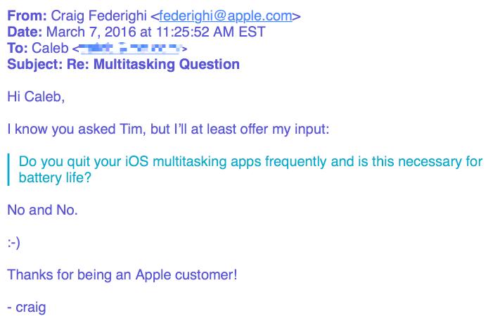 Mail Craig Federighi over apps afsluiten uit multitasking.