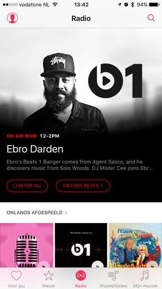 Het radio-onderdeel van de Muziek-app ziet er vanaf nu mooier uit.